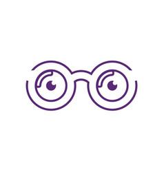 Optical logo design vector