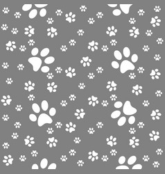 paws grey pattern paw background vector image