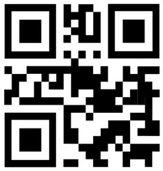 qr code says FREE TRIAL vector image