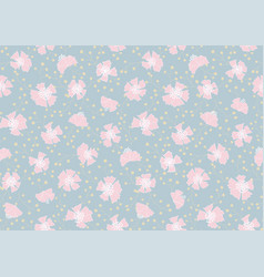 rambled out carnations spring seamless patt vector image