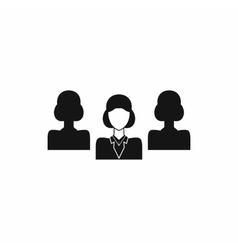 Recruitment icon in simple style vector image