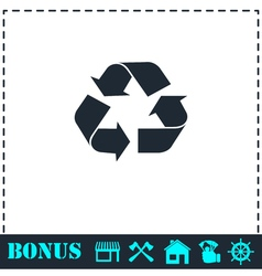 Recycle arrow icon flat vector image