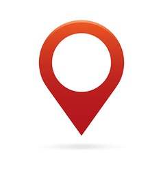 Red map pointer icon marker gps location flag vector