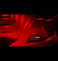 Red ribbon abstract background graphics for vector