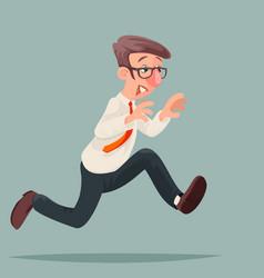 Running businessman hurry race rush inspiration vector