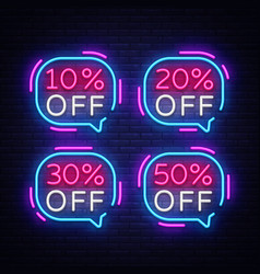 sale tags neon text sale tags neon sign vector image