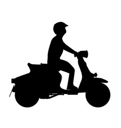 Scooter rider silhouette vector