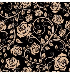 Seamless pattern with rose flowers vector