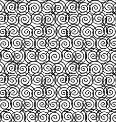 Seamless spiral design vector
