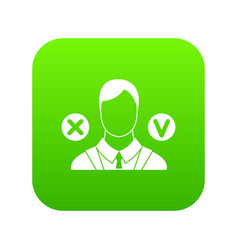 selection icon digital green vector image