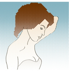 Side view of girl vector