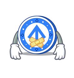 Silent loopring coin mascot cartoon vector