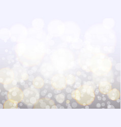 silver bokeh background christmas backdrop vector image