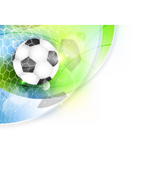 soccer banner with net ball and glitter vector image