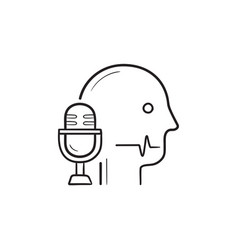 speech recognition hand drawn outline doodle icon vector image