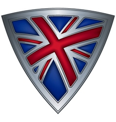 steel shield with flag uk vector image