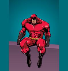 Superhero sitting no cape vector