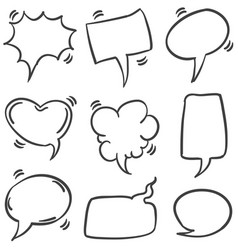 Text balloon style vector
