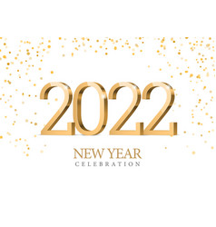 Text design 2022 gold 3d numbers vector