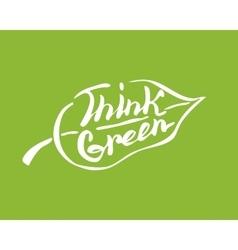 Think green leaf vector image