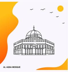 Travel al aqsa mosque poster template vector
