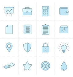 Universal icon set vector image vector image
