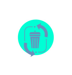 waste disposal garbage management recycle glyph vector image