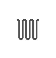 wave zigzag line sign geometric symbol vector image