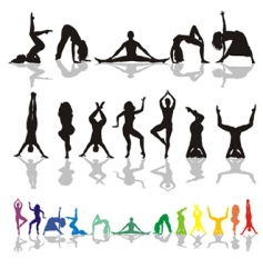 yoga and fitness woman vector image