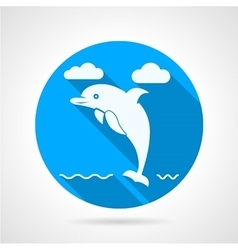 Dolphin flat icon vector image vector image