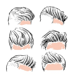 fashion set of hipster man hair style vertor set vector image
