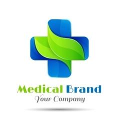 Medical pharmacy logo design template vector image vector image