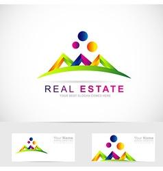 Real estate abstract logo vector image