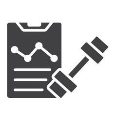 sport training program glyph icon fitness vector image vector image