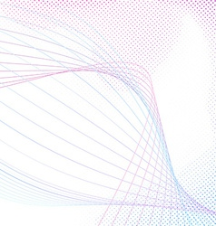 Bright modern swoosh line modeling abstraction vector image