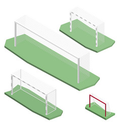 gate for playing soccer in isometric vector image vector image