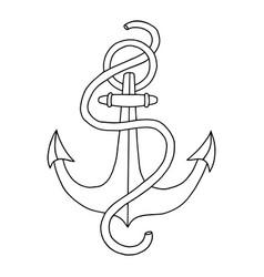 hand drawn nautical anchor element ship travel vector image