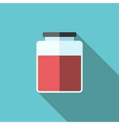 Jar of jam icon vector image