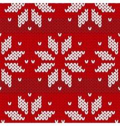 red and white sweater winter seamless pattern vector image