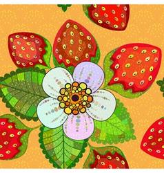 Seamless vivid spring floral pattern vector image
