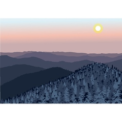 Smoky Mountain sunset vector image vector image