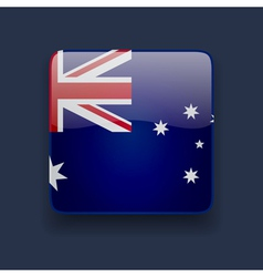 Square icon with flag of Australia vector image vector image