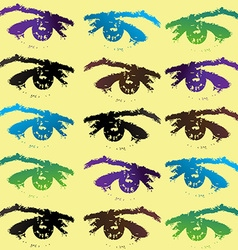 Eyes background vector image vector image