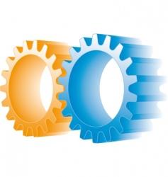 logo gears vector image vector image
