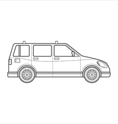 outline wagon car body style icon vector image vector image