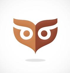 Owl mask abstract logo vector