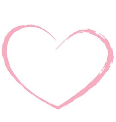 pink heart drawing love valentine vector image vector image