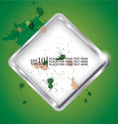 Splatted chrome background vector image vector image