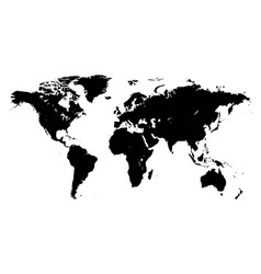 template world map planet silhouettes continents vector image vector image