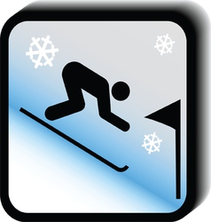 Winter icon -Slalom vector image vector image